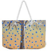 Blue-blossomed Wishing Tree Weekender Tote Bag