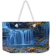 Blue Cascade Falls Weekender Tote Bag