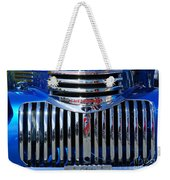 Blue Chevy Pick-up Grill Weekender Tote Bag