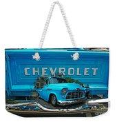 Blue Chevy Pickup Dbl. Exposure Weekender Tote Bag