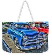 Blue Classic Hdr Weekender Tote Bag