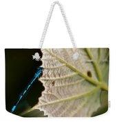 Blue Damsel On Leaf Weekender Tote Bag