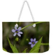 Blue Eyed Grass Weekender Tote Bag
