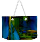 Blue Feather Reflections Weekender Tote Bag