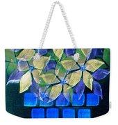 Blue Flower Pot Weekender Tote Bag