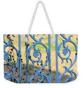 Blue Gate Swirls Weekender Tote Bag