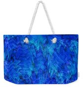 Blue Glass - Abstract Art Weekender Tote Bag by Carol Groenen