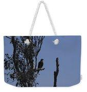 Blue Gray Weekender Tote Bag