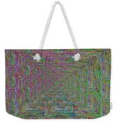 Blue Green Abstract Weekender Tote Bag