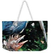 Blue Heron Family Weekender Tote Bag