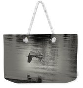 Blue Heron In Platinum Weekender Tote Bag