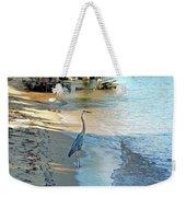 Blue Heron On The Beach Weekender Tote Bag