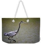 Blue Heron On The Hunt  Weekender Tote Bag
