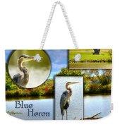 Blue Heron Pose Weekender Tote Bag
