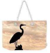 Blue Heron Silhouette Weekender Tote Bag