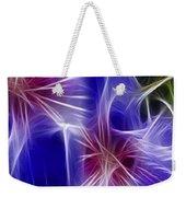 Blue Hibiscus Fractal Panel 4 Weekender Tote Bag