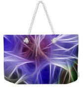 Blue Hibiscus Fractal Panel 5 Weekender Tote Bag