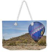 Blue Hot Air Balloon On The Desert  Weekender Tote Bag