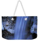 Blue Icy Waterfall Weekender Tote Bag