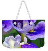 Blue Irises Weekender Tote Bag