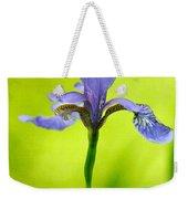 Blue Japanese Iris Weekender Tote Bag