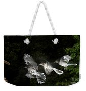 Blue Jay In Flight Weekender Tote Bag