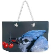 Blue Jay Weekender Tote Bag by Photo Researchers, Inc.
