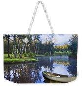 Blue Lake Weekender Tote Bag by Debra and Dave Vanderlaan