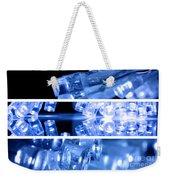 Blue Led Lights In Three Strips Weekender Tote Bag