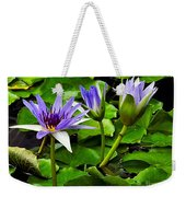 Blue Lilies Weekender Tote Bag