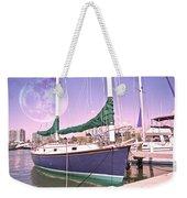 Blue Moon Harbor II Weekender Tote Bag by Betsy Knapp