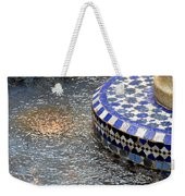 Blue Mosaic Fountain I Weekender Tote Bag