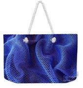 Blue Net Background Weekender Tote Bag by Carlos Caetano