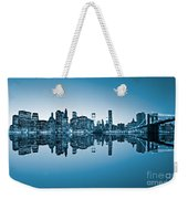 Blue New York City Weekender Tote Bag