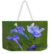 Blue On Green Weekender Tote Bag