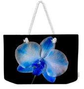 Blue Orchid Bloom Weekender Tote Bag