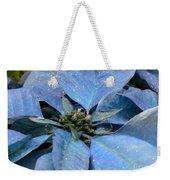 Blue Poinsettia Weekender Tote Bag