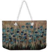 Blue Poppies And Gold Wheat Weekender Tote Bag