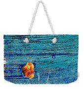 Blue Rusted Steel Painted Background Weekender Tote Bag