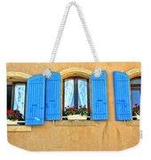 Blue Shutters In Provence Weekender Tote Bag