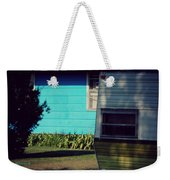 Blue Siding And Camper Weekender Tote Bag