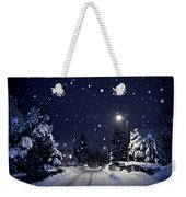 Blue Silent Night Weekender Tote Bag