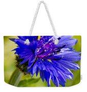 Blue Single Cornflower Weekender Tote Bag