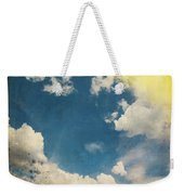 Blue Sky On Old Grunge Paper Weekender Tote Bag