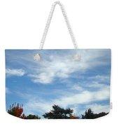 Blue Sky White Clouds Autumn Prints Weekender Tote Bag