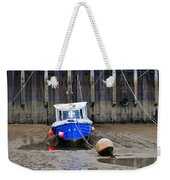 Blue Small Boat Weekender Tote Bag