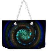 Blue Spiral Weekender Tote Bag