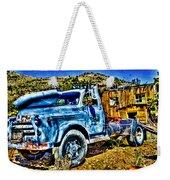 Blue Truck Weekender Tote Bag