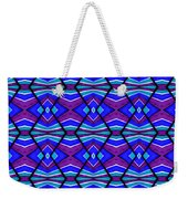 Blue Turquoise And Purple Weekender Tote Bag