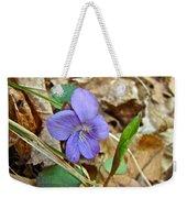 Blue Violet Wildflower - Viola Spp Weekender Tote Bag